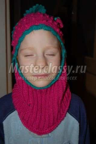 вязаный шлем. вязание