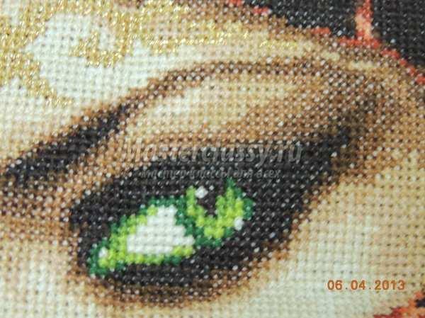 Вышивка крестиком глаз 41