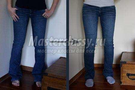 Как сделать узкие штаны из обычных
