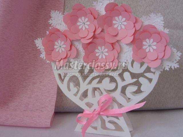 Цветы в вазу своими руками из бумаги