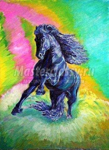 картина лошадка