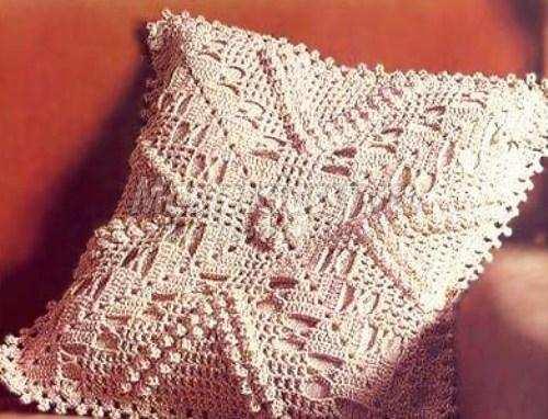 Схемы вязания диванных подушек крючком