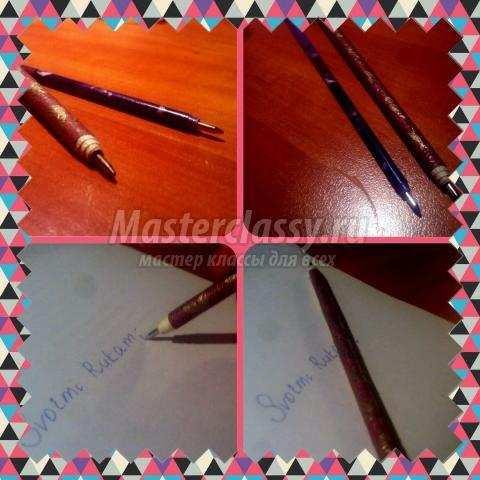 Как сделать украшение на ручку для письма своими руками